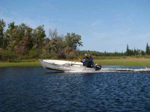 northern ontario fishing boat rental package